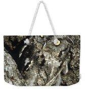 Camouflaged Screech Owl Weekender Tote Bag