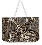Camouflaged X Sepia Weekender Tote Bag