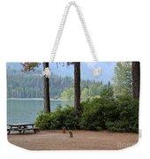 Camp By The Lake Weekender Tote Bag