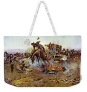 Camp Cooks Trouble Weekender Tote Bag by Charles Russell