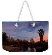 Camp Davis River Sunset Weekender Tote Bag