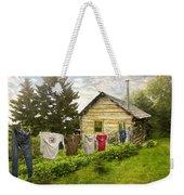 Camp Leconte Weekender Tote Bag by Debra and Dave Vanderlaan