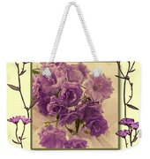 Campanula Framed With Pressed Petals Weekender Tote Bag