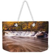 Campbell Falls In Autumn Weekender Tote Bag