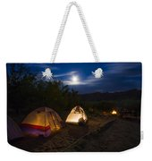 Campfire And Moonlight Weekender Tote Bag