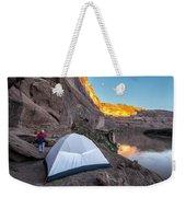 Camping Along The Labyrinth Canyon Weekender Tote Bag