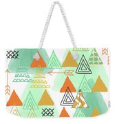 Camping Weekender Tote Bag by Linda Woods