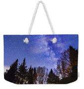 Camping Under The Milky Way Weekender Tote Bag
