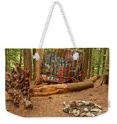 Campsite By The Box Car Weekender Tote Bag