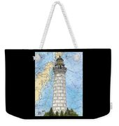 Cana Island Lighthouse Wi Nautical Chart Map Art Weekender Tote Bag