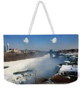 Canada And America At Niagara Falls Weekender Tote Bag