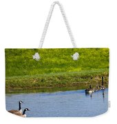 Canada Geese And Goslings Weekender Tote Bag