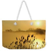 Canada Geese In Flight At Sunrise Weekender Tote Bag