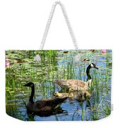 Canada Geese On Lily Pond At Reinstein Woods Weekender Tote Bag