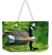 Canada Goose On Green Pond Weekender Tote Bag
