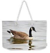 Canada Goose Reflecting In Calm Waters Weekender Tote Bag