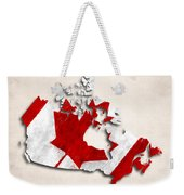 Canada Map Art With Flag Design Weekender Tote Bag