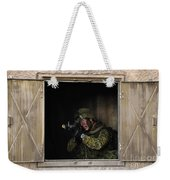 Canadian Army Soldier Conducts Military Weekender Tote Bag by Stocktrek Images