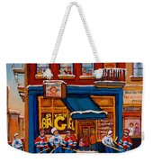 Canadian  Artists Paint Hockey And Montreal Streetscenes Over 500 Prints Available  Weekender Tote Bag