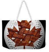 Canadian Bacon Lovers Baseball Square Weekender Tote Bag by Andee Design