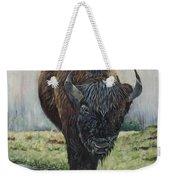 Canadian Bison Weekender Tote Bag