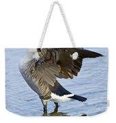 Canadian Goose Stretching Weekender Tote Bag