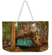 Canadian Pacific Box Car Wreckage Weekender Tote Bag