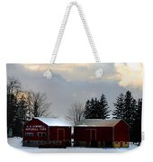 Canadian Snowy Farm Weekender Tote Bag