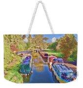 Canal Barges Weekender Tote Bag