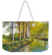 Canal Du Midi At Toulouse France Weekender Tote Bag