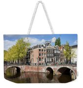 Canal Houses In Amsterdam Weekender Tote Bag