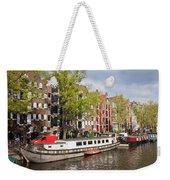 Canal In Amsterdam Weekender Tote Bag