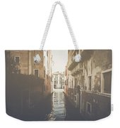 Canal In Venice Italy Applying Retro Instagram Style Filter Weekender Tote Bag