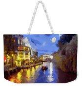 Water Canals Of Amsterdam Weekender Tote Bag