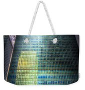 Canary Wharf Reflections Weekender Tote Bag