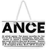 Cancer Treatment, C1875 Weekender Tote Bag