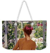Candace Being Candlish On Canvas Weekender Tote Bag