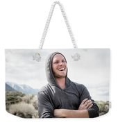 Candid Portrait Of Laughing Young Weekender Tote Bag