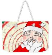 Candies And Cookies Funny Christmas Santa  Weekender Tote Bag