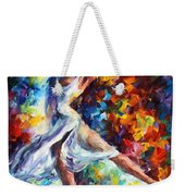Candle Fire - Palette Knife Oil Painting On Canvas By Leonid Afremov Weekender Tote Bag