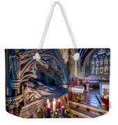Candles At Christmas Weekender Tote Bag by Adrian Evans