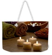 Candles In A Spa Weekender Tote Bag