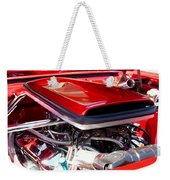 Candy Apple Red Horsepower - Ford Racing Engine Weekender Tote Bag