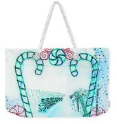 Candy Cane Christmas 2 Weekender Tote Bag