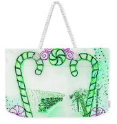 Candy Cane Christmas 5 Weekender Tote Bag