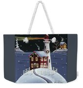 Candy Cane Cove Weekender Tote Bag