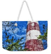 Candy Cane Lighthouse Weekender Tote Bag