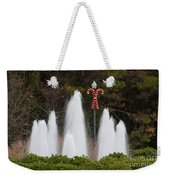 Candy Cane Water Fountain Weekender Tote Bag