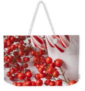 Candy Canes And Red Berries Weekender Tote Bag