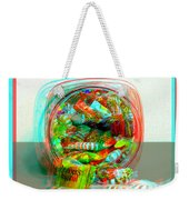Candy Jar - Use Red-cyan Filtered 3d Glasses Weekender Tote Bag